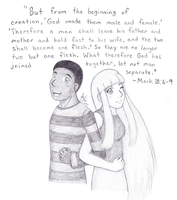 Gift Art: Ben and Orchid by Jazzy-C-Oaks