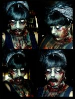 zombie makeup 2010 by MummysLittleMonster