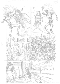 Iron Maiden page 17 pencils by DarrenEmond