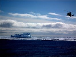 The Antarctic 005: Sea ice and Iceberg by MadleneP