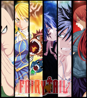 Fairy Tail Cover Collab Coloring by Zeroshini