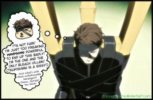 What's behind Aizen poker face by Megami-tama