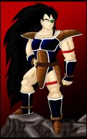 Heroic Pose - Raditz by Paradise-of-Darkness