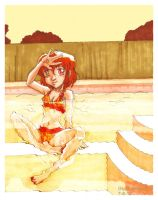 Orange: Swimmer by GlyphBellchime