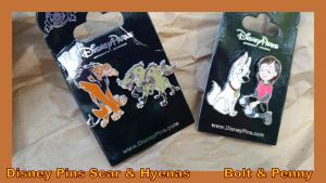 Disney Pins Scar and Hyenas   Bolt and Penny by Vesperwolfy87