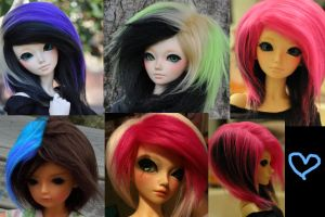 BJD Fur Wigs- Commissions open by Manachann