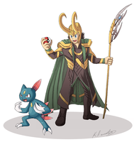 Pokemon trainer Loki by foxinsoxx