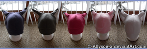 Rainbow Fox Hats by Allyson-x