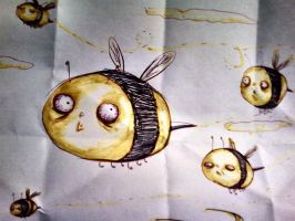 Bumble bees by GG-lover