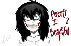 Jeff The Killer (Aren't I Beautiful?) by creepyodd