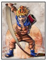 Naruto and Gamakitchi card by GensoTeam