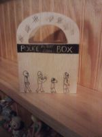 Doctor Who Wood Box - Side 3 by snowtigra
