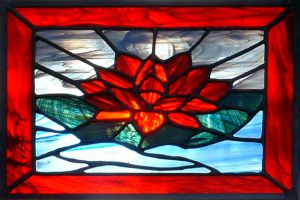 Water Lily Stained Glass by spirals