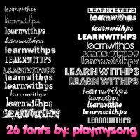 26 fonts bt playmysong by playmysong