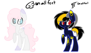 .:Ref:. Angel Feet and Demon Feet by Quirk-Nugget