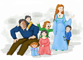 Sandor, Sansa and family by Curtana