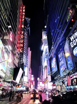 Times Square-digital painting by S-A--K-I