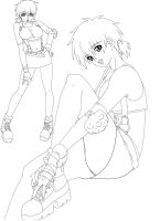 Tifa Style - LineArt by Darkslover