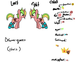 Drama-queen (chris) :NEW: pony REF by X-RedFox-X