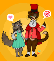 Cat R Waul and me by MalevolentMask