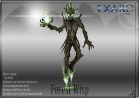 Exaro Monster Concept - Forest Wisp by AaronQuinn
