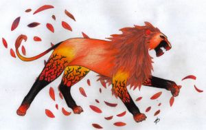 Autumn Lion by Fox-Whisky