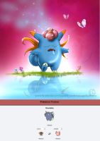 Pokemon Fusion - Gloofable by LaurenceAndrewPage