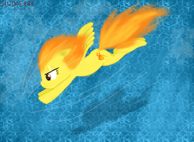 Spitfire over water by Sludge888