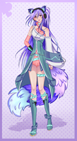 Auction Adopt - Electro Cat Girl [CLOSED] by CuBur