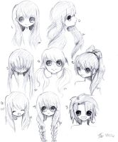 Face and Hair Practice by Tei-Chann
