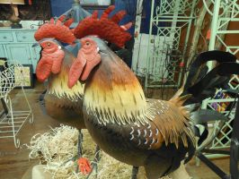 Two Roosters by doktornein