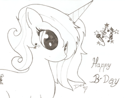 Happy Birthday Ponyness!!!!!! by D-SixZey