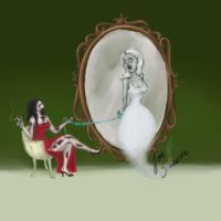 zombie catches an entity in front of a mirror by jezviking