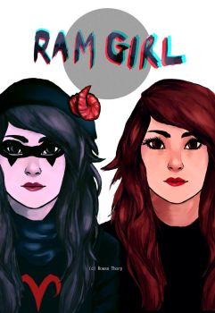 Ram Girl Issue #1 Cover by findingghost