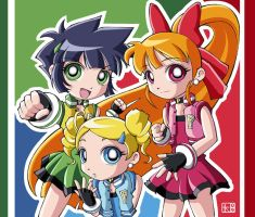 Powerpuff Girls Z by kushida