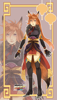 Fox Lady Adoptable01 [CLOSED] by Teebohne