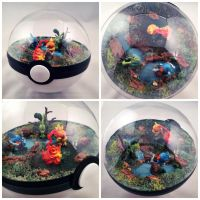 Poke Ball Terrarium - 3rd Gen. Starters by TheVintageRealm