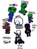 My little bros drawings :D by thatoneginger