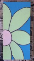 Hand Painted Flower Sign by KarenNicole97