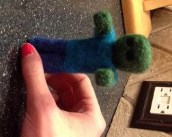 Minecraft Zombie Needle Felt by the-pink-dragon
