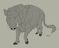 Lineart Commission: NordicWerewolf by DeyVarah