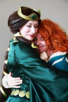 Legends are Lessons - Merida and Queen Elinor by madelyngrace