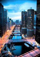 Red and Blue by neverleft