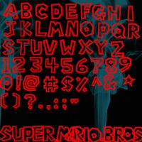 Super Mario Bros Font Brushes by Vampire-Maiden