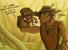 So, what's the deal, Smelly? by Calick