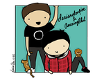 Amazingphil and Danisnotonfire (digital drawing) by Lowse