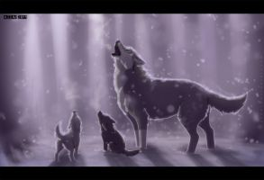 Father and children by azzai