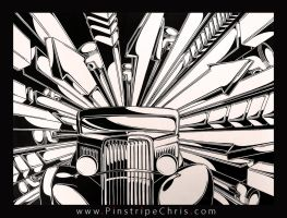 Sharpie Art V-8 by PinstripeChris