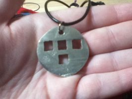 Lost Wax Tron Lives Pendant by SilverShadowSpark