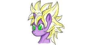 Twilight Sparkle Super Saiyan 1 by BronySaiyan